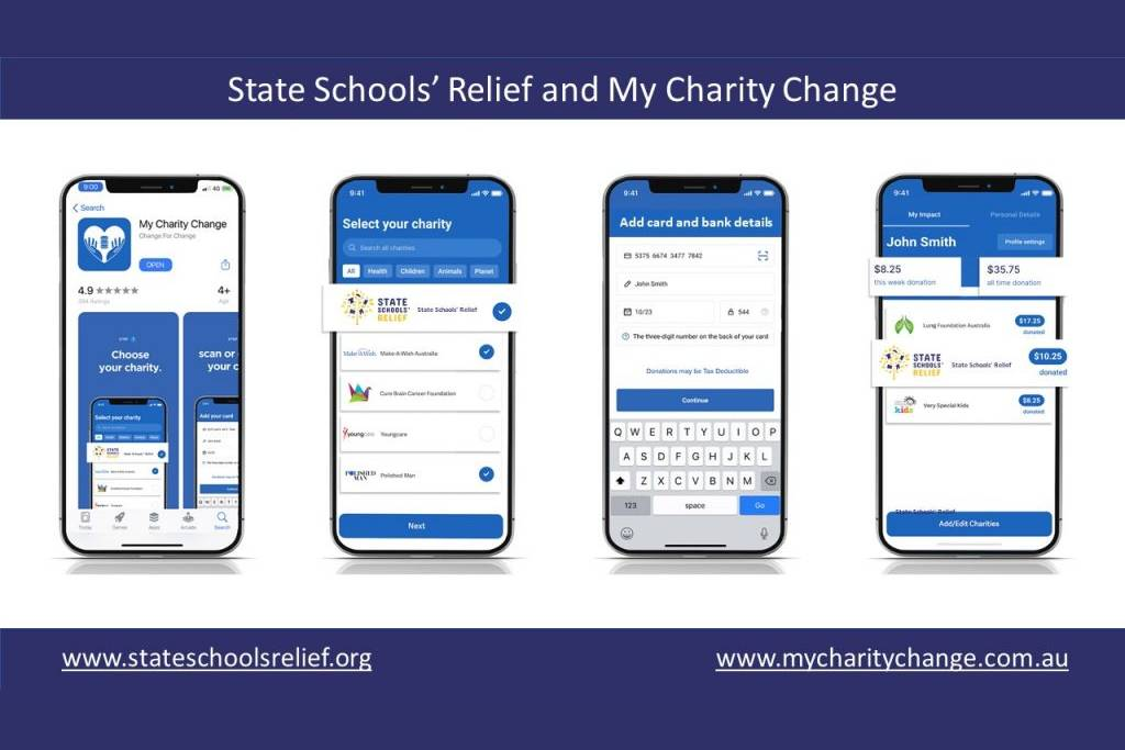 State Schools' Relief partners with My Charity Change to raise $300,000 for disadvantaged children